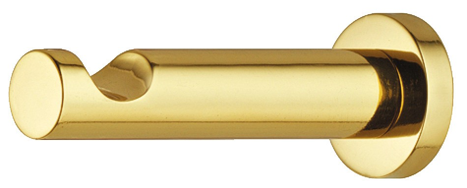 Image of   Cylinder formet garderobekrog i poleret messing med fordybning