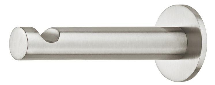 Image of   Smal cylinder formet knage i forniklet mat messing med en fordybning