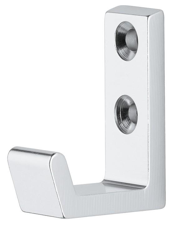 Image of   Simpel og billig garderobekrog i sølvfarvet eloxeret aluminium