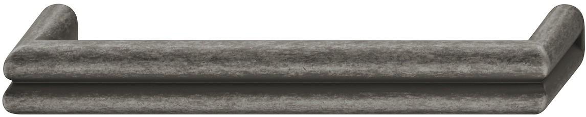Image of   Kraftigt zinklegering greb med fordybning Model H1570 - Fortinnet antik og brugt look