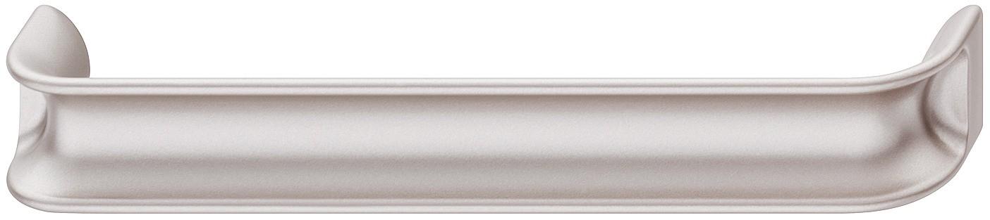 Image of   Rosa sølvfarvet zinklegering greb i med fordybning.