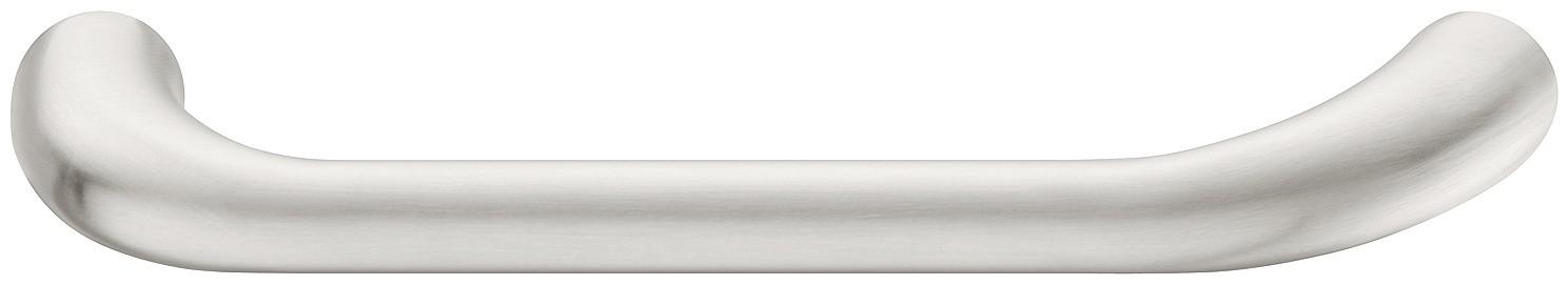Image of   Forniklet børstet greb i zinklegering med en blød buet form - model H1730