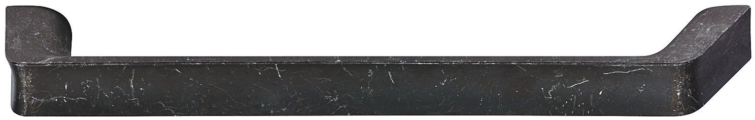 Image of   Bøjlegreb med brugt look i sort mat zinklegering