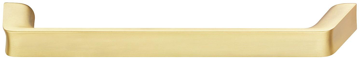 Image of   Guldfarvet bøjlegreb i mat børstet zinklegering