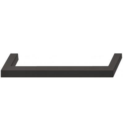 Klassisk kantet bøjlegreb i sort mat rustfrit stål - PVD-belagt