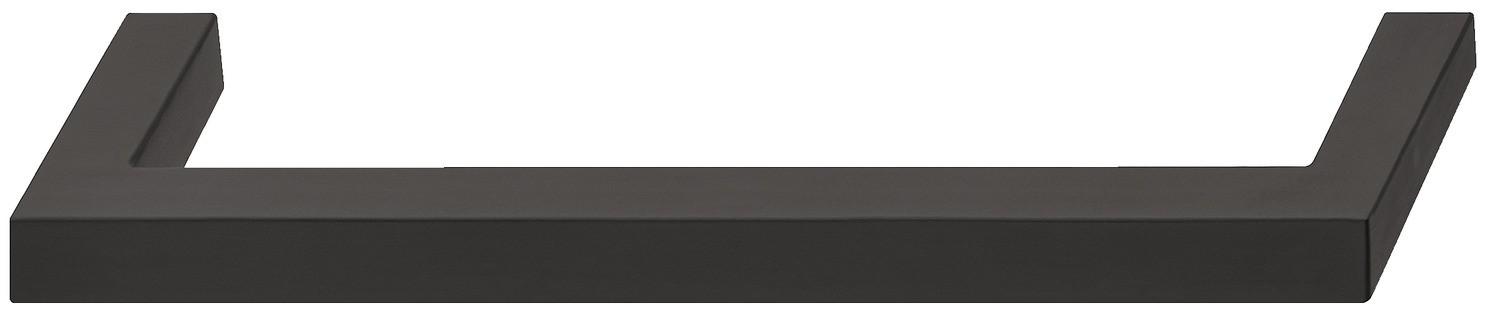 Image of   Klassisk kantet bøjlegreb i sort mat rustfrit stål - PVD-belagt