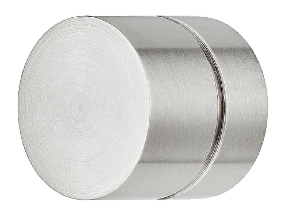 Image of   Bred knopgreb i mat børstet rustfri stål med 1 fordybning, Ø28 mm