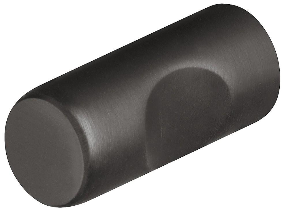 Image of   Knopgreb i sort mat rustfri stål, undersænket