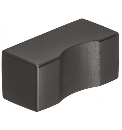 Knopgreb i sort mat rustfri stål med en mindre undersænkning