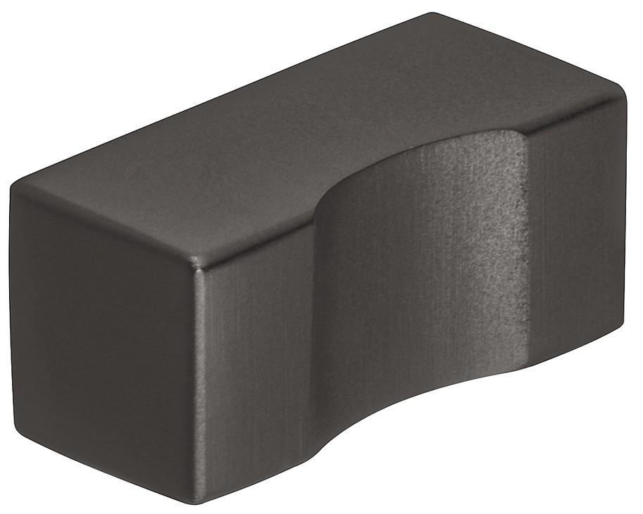 Image of   Knopgreb i sort mat rustfri stål med en mindre undersænkning