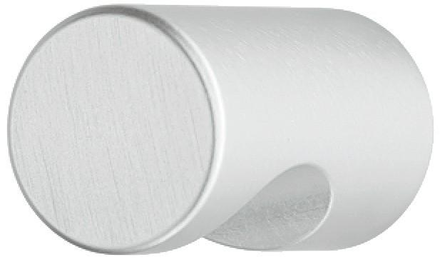 Image of   Cylindrisk møbelknap med forsænket greb i aluminium
