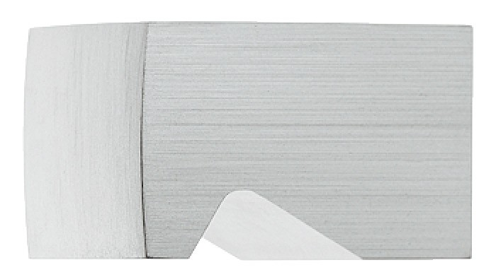 Image of   Rektangel møbelknap med forsænket greb i aluminium