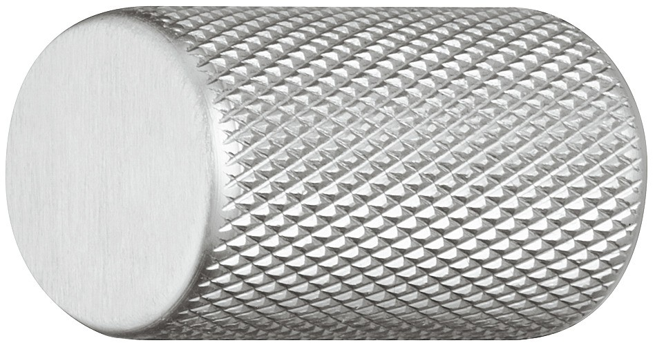 Image of   Møbelknopgreb i stålfarvet aluminium med grov overflade