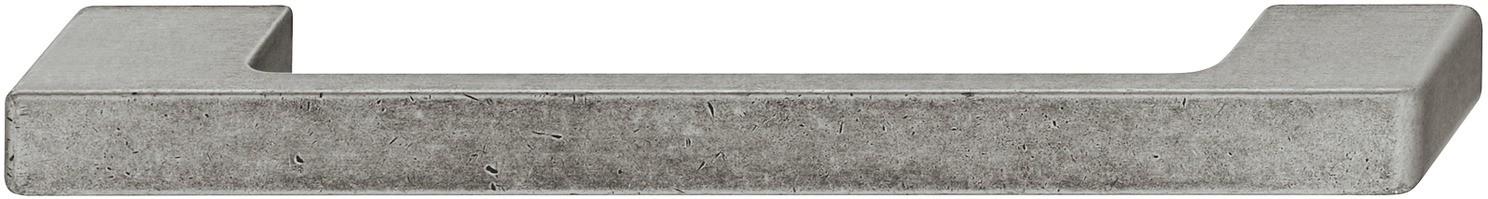 Image of   Bøjlegreb med brede sokler forniklet antik zinklegering - brugt look