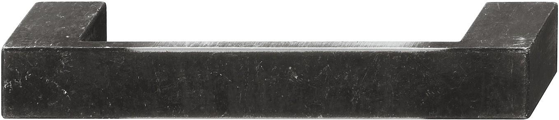 Image of   Firkantet bøjlegreb med lysnet kanter i jernfarvet zinklegering - brugt look