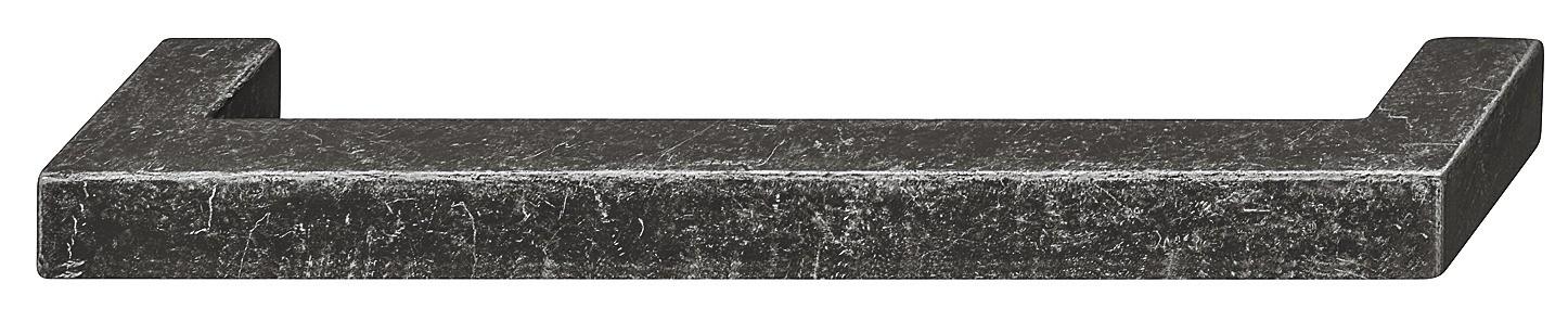 Image of   Firkantet møbelgreb i sølvfarvet antik zinklegering