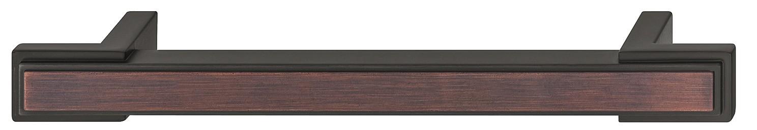 Image of   Dekorativ olieret bronzefarvet zinklegering sokkelgreb - model H1930