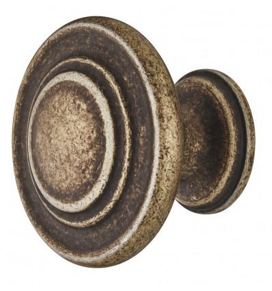 Traditionelt formessinget rund knopgreb i antik zinklegering