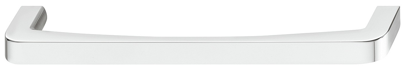 Image of   Blød rundet bøjlegreb i forkromet poleret zinklegering