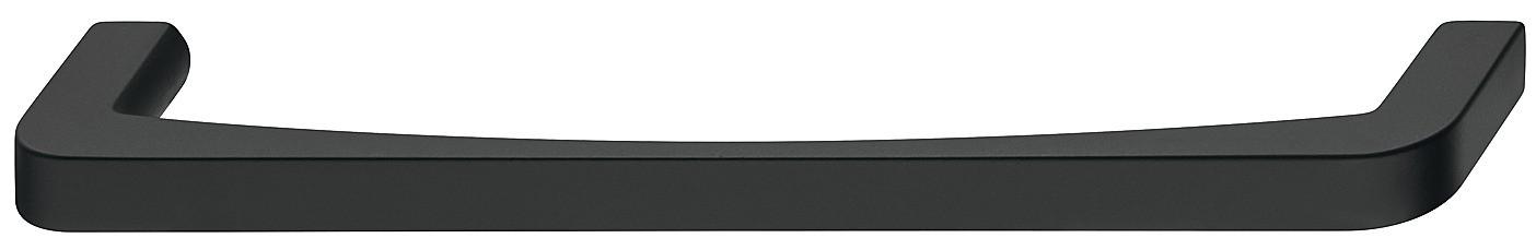 Image of   Blød rundet bøjlegreb i sort mat zinklegering