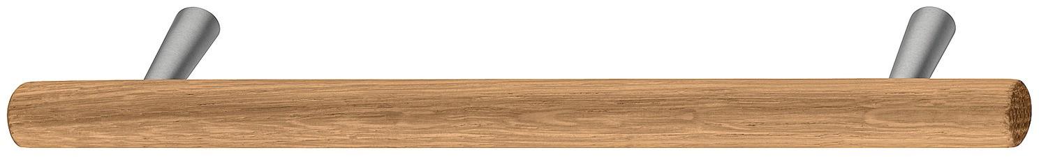 Image of   Sokkelgreb i natur egetræ og stålfarvet zinklegering