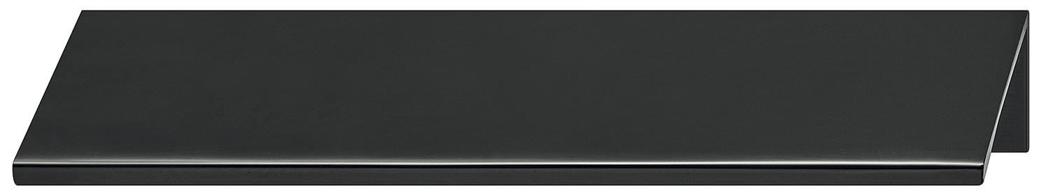 Image of   Enkel kantgreb i sort mat aluminium