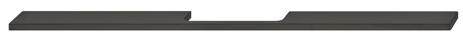 Image of   Aflang og smal gribeliste i sort mat aluminium