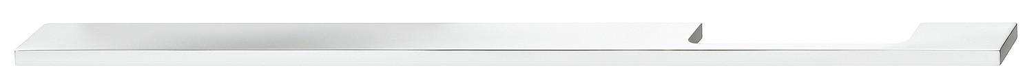 Image of   Aflang gribeliste i forkrom poleret aluminium med håndgrebet i højre side