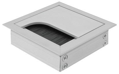 Kabelgennemføring, Firkantet, Aluminium 80x80