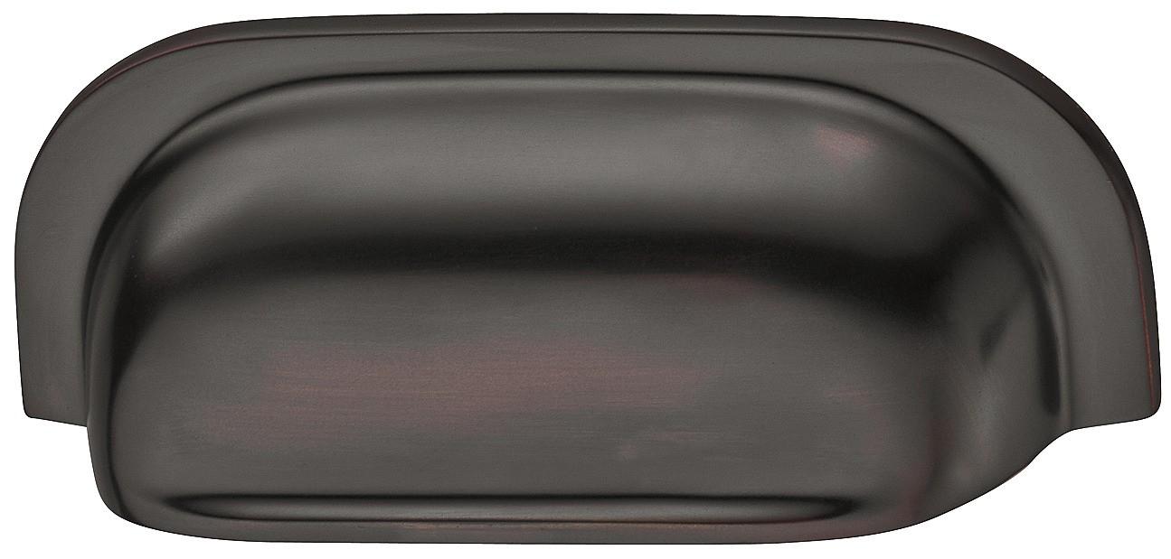 Image of   Buede skålegreb i bronzefarvet olieret børstet zinklegering