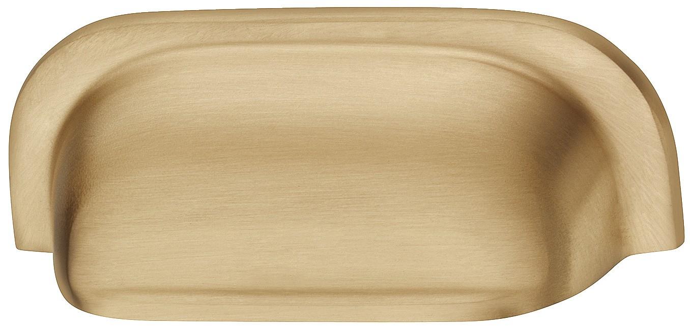 Image of   Buede skålegreb i formessinget børstet zinklegering