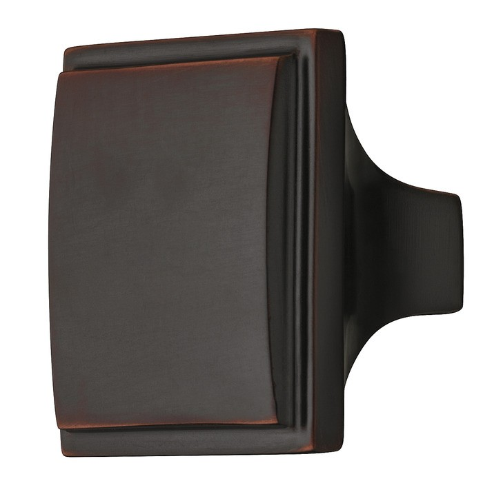 Image of   Traditionel firkantet møbelknopgreb i bronzefarvet børstet messing