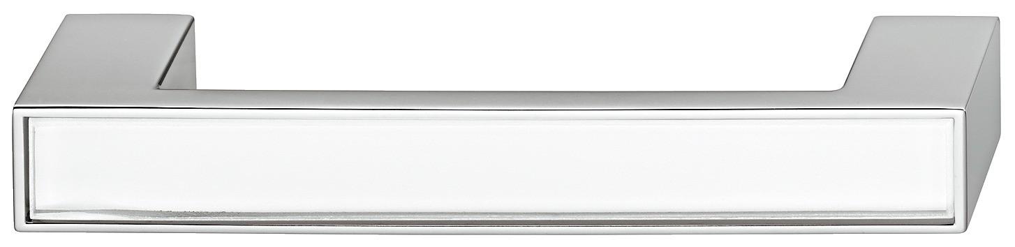 Greb, aflang rektangulær, hvidt glasindlæg