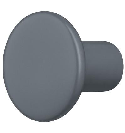 Trendy lille møbelknopgreb i mørkegrå træ, Ø30 mm