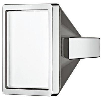 Greb, firkantet, hvidt glasindlæg