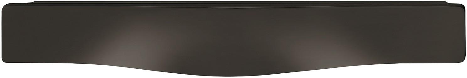 Image of   Flad skålegreb i forniklet sort poleret zinklegering - model H1765
