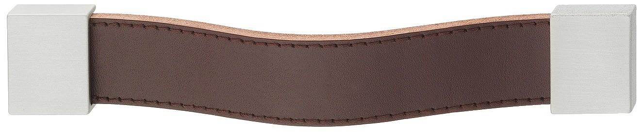 Image of   Greb, aflang strop, brun læder, 157mm
