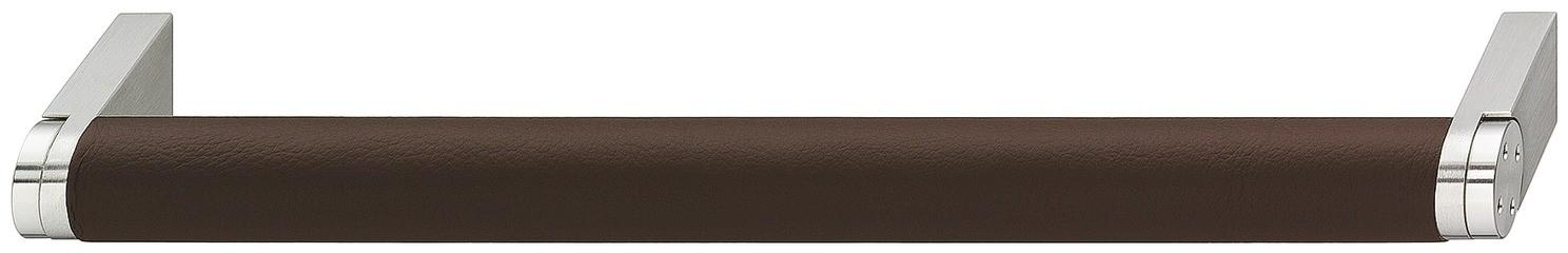 Image of   Greb, aflang rund, brunt læderomslag 136-200mm