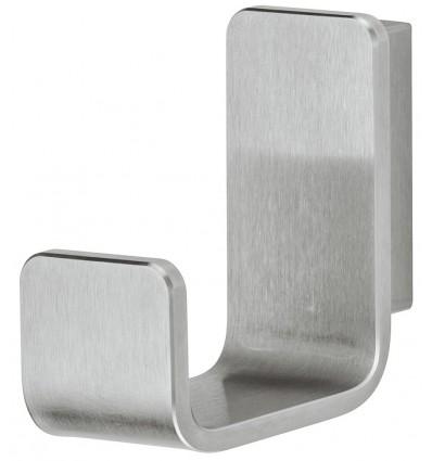 Klassisk j-formet garderobekrog i børstet rustfrit stål