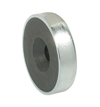 Forniklet stål magnetlås til metalskabe - Holdestyrke 3,6 kg