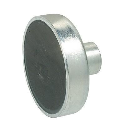 Forniklet stål magnetlås til metalskabe - Holdestyrke 4 kg