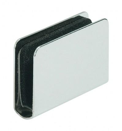 Firkantet modstykke til glaslåger med greb - til glastykkelse 4-6 mm