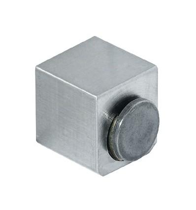 Magnettryklås i rustfrit stål til enkelt glaslåge - Holdestyrke 1,8 kg