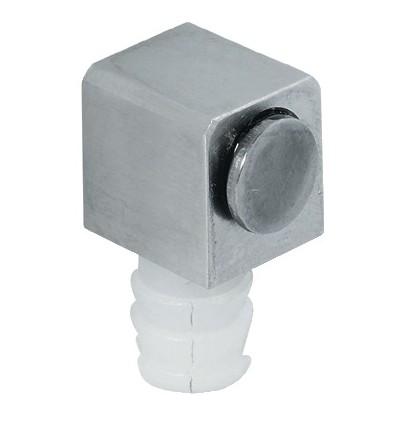 Magnetisk lås i rustfrit stål til enkelt glaslåge - ipresning borehul Ø 8 mm