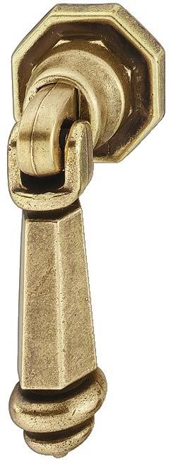 Image of   Knopgreb, brun antik, hængende stang