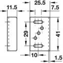Låseblik, justerbar, 41x25,5 - 10 stk.