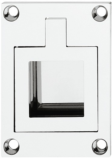 Image of   Greb, skibsdesign, firkantet håndtag og bagplade, poleret