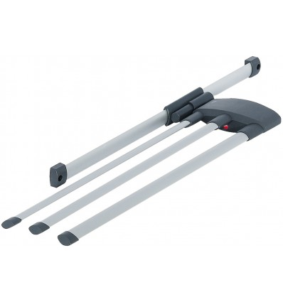 Viskestykkeudtræk - 3-armet - aluminium - Hailo Secco-Alu Line