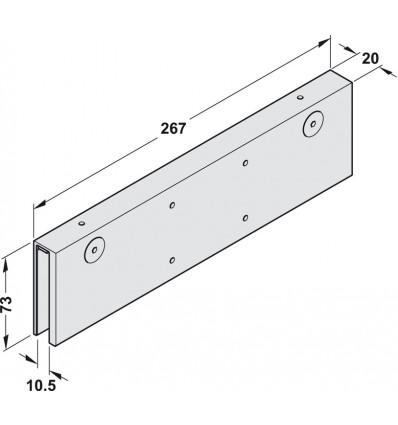 Montageplade - til glasdøre
