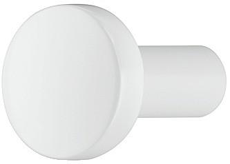 Knopgreb Zinklegering, Model H1340 - Mat hvid